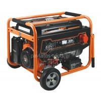 Γεννήτρια Kraft βενζίνης με μίζα+μπαταρία τριφασική (400V) LT-9000-3  63736