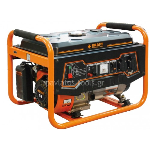 Ηλεκτργεννήτρια βενζίνης Kraft 208cc 2700 Watt 2.7kVA LT 3900 N-6 63780