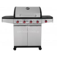 Ψησταριά BBQ υγραερίου Unimac με 4 καυστήρες και 1 πλαϊνή εστία 661317