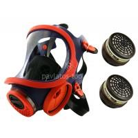 Μάσκα κεφαλής Climax ολόκληρου προσώπου με 2 φίλτρα ABEK1P3 732100