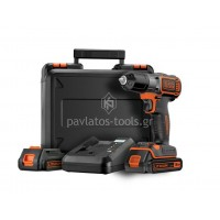 Δραπανοκατσάβιδο Black&Decker Τεχνολογίας Autoselect™-Autosense 18V 1,5Ah με 2 μπαταρίες ASD18KB