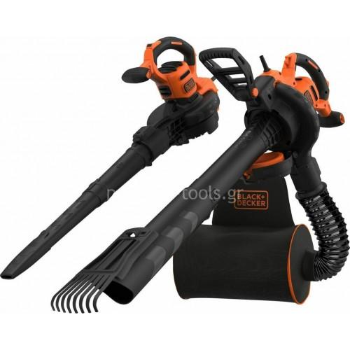 Ηλεκτρικός Φυσητήρας-Απορροφητήρας Φύλλων Black&Decker 3000 Watt BEBLV301