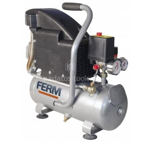 Αεροσυμπιεστής λαδιού Ferm 1.1HP-750 Watt 8ltr CRM1044