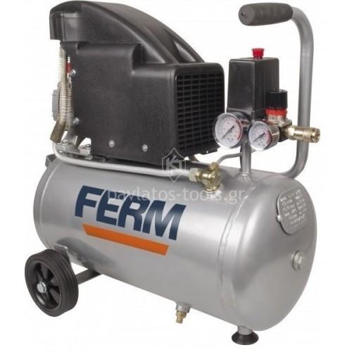 Αεροσυμπιεστής μονομπλόκ Ferm 1.5HP 1100 Watt 24ltr CRM1045