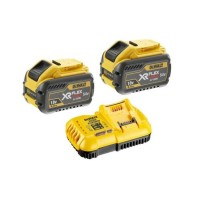 Σετ φορτιστής ταχείας φόρτισης & 2x54V/18V μπαταρίες 3.0-9.0Ah Dewalt DCB118X2
