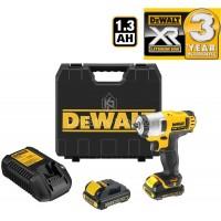 Μπουλονόκλειδο Dewalt 10.8V 1.3Ah με 2 μπαταρίες XR DCF813C2