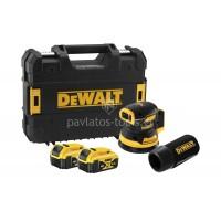Παλμικό τριβείο παλάμης Dewalt 18V brushless με μπαταρίες και φορτιστή σε βαλίτσα DCW210P2