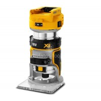 """Ρούτερ Σταθερής Βάσης Dewalt 18V XR Brushless 8mm(1/4"""") (Χωρίς μπαταρία & φορτιστή) DCW600N"""