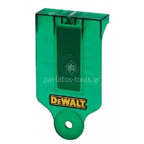 Κάρτα Στόχου για Λέιζερ πράσινη Dewalt DE0730G