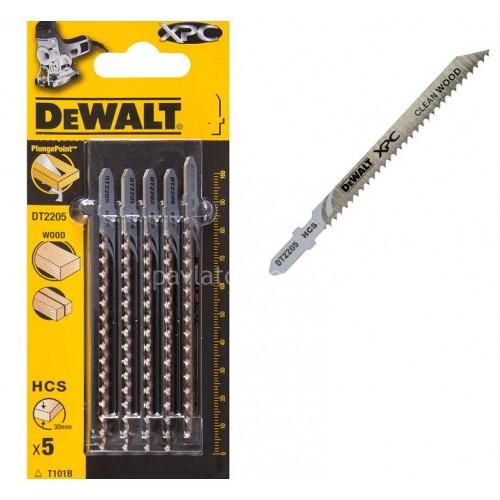 Λεπίδες Dewalt σετ 5τμχ. XPC ξύλου 100x2.7mm (T101B) DT2205