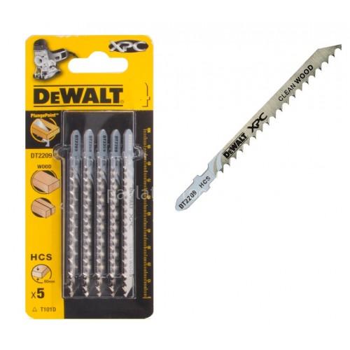 Λεπίδες σέγας Dewalt σετ 5τμχ. XPC ξύλου 100x4.0mm (T101D) DT2209