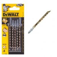Λεπίδες σέγας Dewalt σετ 5τμχ. XPC ξύλου 100x4.0mm (T144D) DT2213
