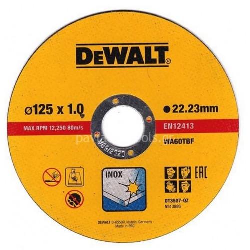 Δίσκος κοπής Dewalt inox 125x1.0mm DT3507