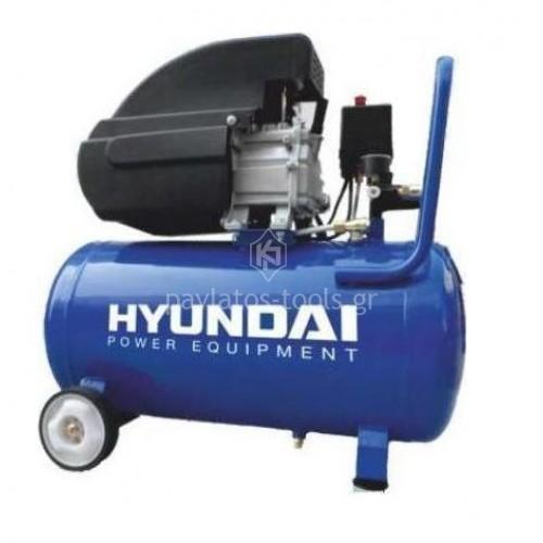 Αεροσυμπιεστής Hyundai 50 ltr 1500 Watt 2.0hp μονομπλόκ HYAC50-2