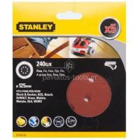 Σετ γυαλόχαρτα Stanley 125mm Quick Fit 240 κόκκωση STA32182