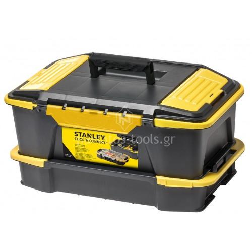Εργαλειοθήκη Stanley με ταμπακιέρες click&connect STST1-71962