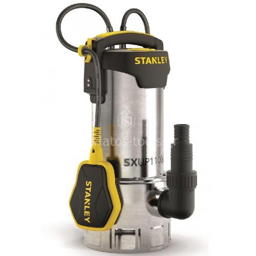 Υποβρύχια Αντλία ακαθάρτων υδάτων Stanley INOX με Φλοτέρ 1100 Watt SXUP1100XDE