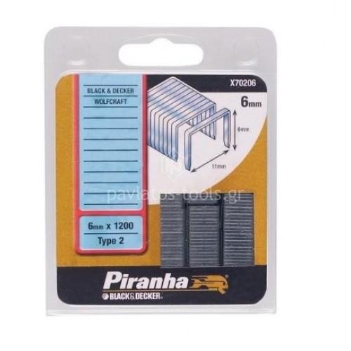 Δίχαλα Black&Decker Piranha 6mmx1200 τεμάχια X70206