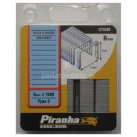 Δίχαλα Black&Decker Piranha 8mmx1200 τεμάχια X70208
