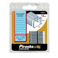 Δίχαλα Black&Decker Piranha 14mmx1200 τεμάχια X70214