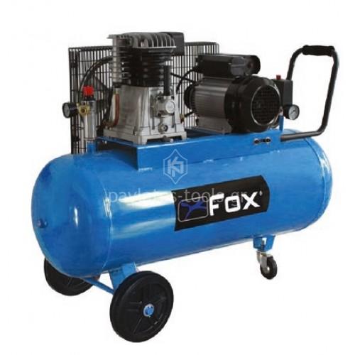 Αεροσυμπιεστής FOX με ιμάντα 100lt 3HP FL100/220/3